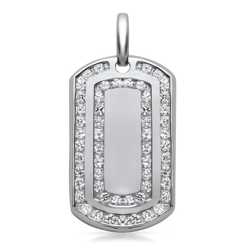 Unique Dog-Tag Anhänger 925 Sterling