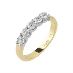 750er Goldring (18K): Ring Bicolor Diamant BIR4262