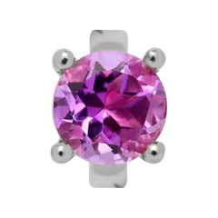 Endless Silber Charm Round Amethyst 21354