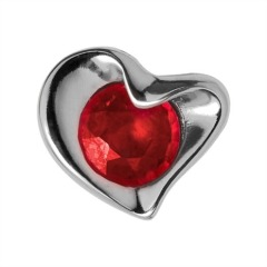 Endless Silber Charm Ruby Heart 21751