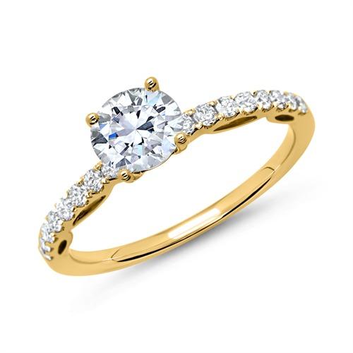 ring 750er gold mit brillanten dr0120 18kg. Black Bedroom Furniture Sets. Home Design Ideas